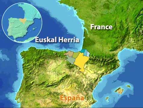 a map of spain and france. In this map you can find the